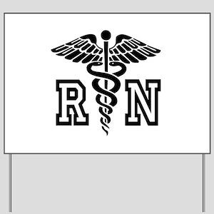 RN Nurse Caduceus Yard Sign