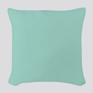Mint A1D6CA 30x30 Woven Throw Pillow