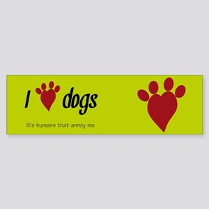 I Heart Dogs Bumper Sticker
