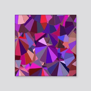"""Shades of Purple Abstract S Square Sticker 3"""" x 3"""""""