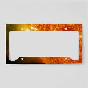 Solar Flare License Plate Holder