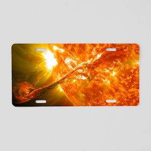 Solar Flare Aluminum License Plate