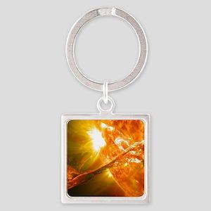 Solar Flare Square Keychain