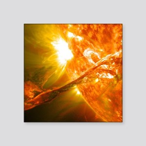 "Solar Flare Square Sticker 3"" x 3"""
