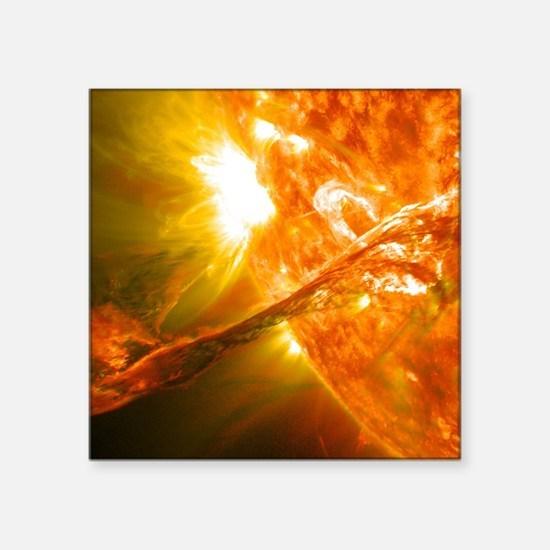 """Solar Flare Square Sticker 3"""" x 3"""""""