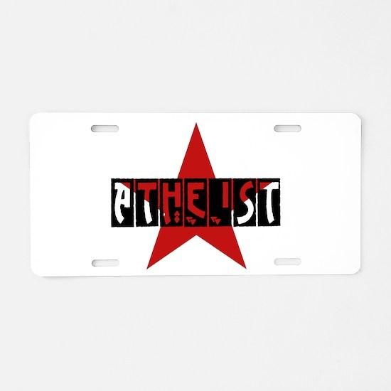 Atheist Star Aluminum License Plate