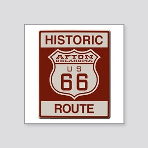 Afton Route 66 Sticker