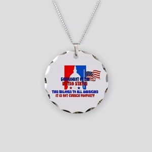 Not Church Property Necklace Circle Charm