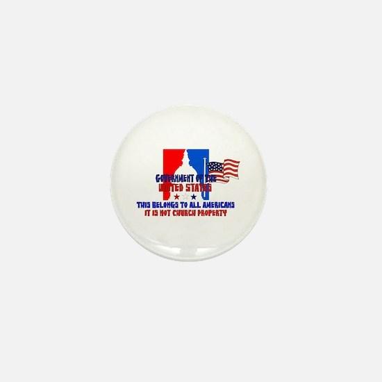 Not Church Property Mini Button (10 pack)