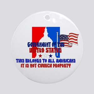 Not Church Property Ornament (Round)