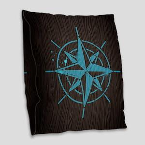 Nautical Burlap Throw Pillow