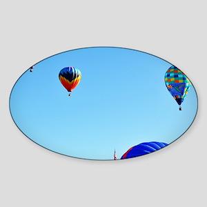 Three Hot Air Balloons 1 Sticker (Oval)