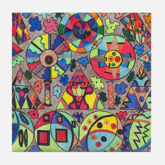 Shapes of Wonder Tile Coaster