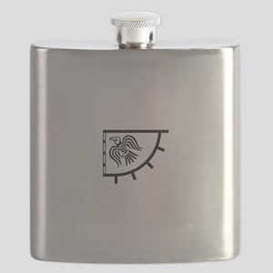 The Raven Banner Flask