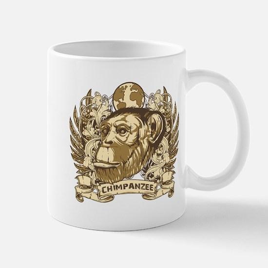 Grunge Chimpanzee Mug