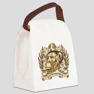 Grunge Chimpanzee Canvas Lunch Bag