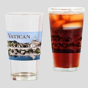 Vatican City Seen from Tiber River text VATICAN c