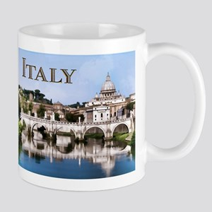 Vatican City Seen from Tiber River text ITALY cop