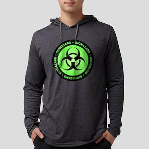 Green & Black Biohazard Long Sleeve T-Shirt