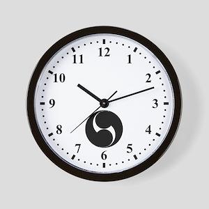 Two counterclockwise swirls Wall Clock