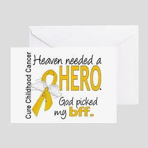 Childhood Cancer HeavenNeededHero1 Greeting Card
