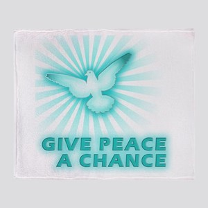 Give Peace a Chance Throw Blanket