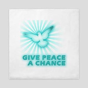 Give Peace a Chance Queen Duvet