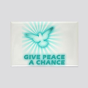 Give Peace a Chance Rectangle Magnet