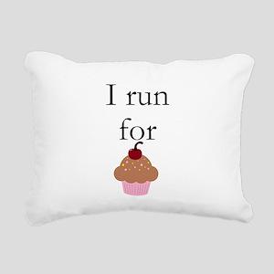 I Run For Cupcakes Rectangular Canvas Pillow