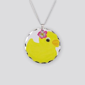 Duck with a Flower in Hair Necklace