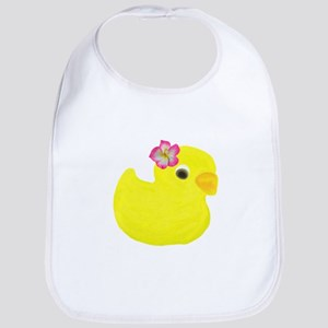 Duck with a Flower in Hair Bib