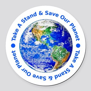 Save Our Planet Round Car Magnet