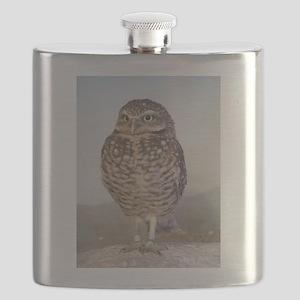 Burrowing owl Flask