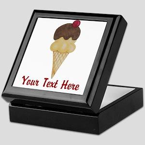 Personalizable Double Scoop Ice Cream Keepsake Box