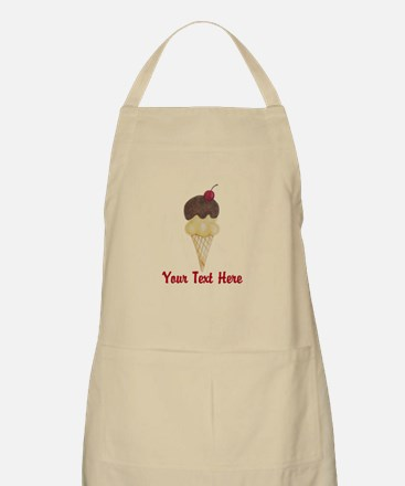 Personalizable Double Scoop Ice Cream Apron
