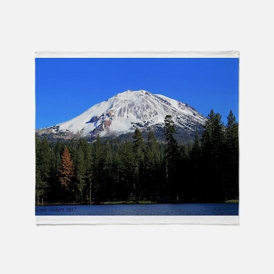 Mt. Lassen with Snow Throw Blanket
