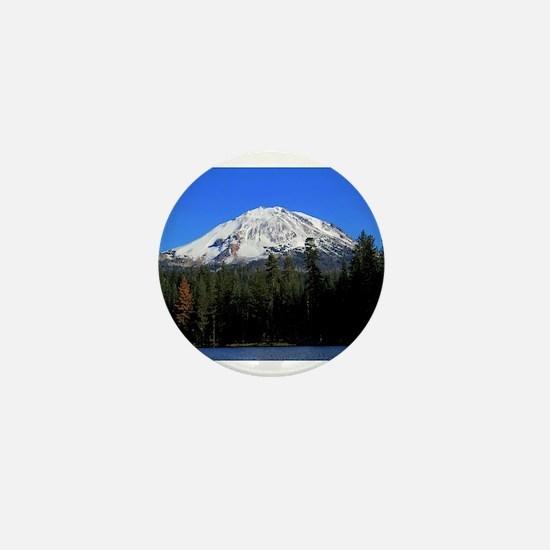 Mt. Lassen with Snow Mini Button
