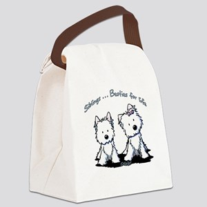 Westie Siblings Canvas Lunch Bag