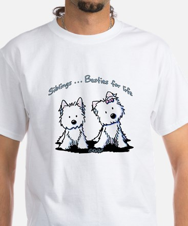 Westie Siblings White T-Shirt