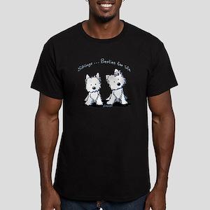 Westie Siblings Men's Fitted T-Shirt (dark)