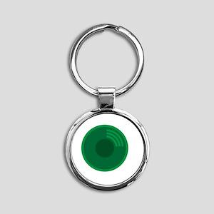 Prospector's Gold Pan Round Keychain