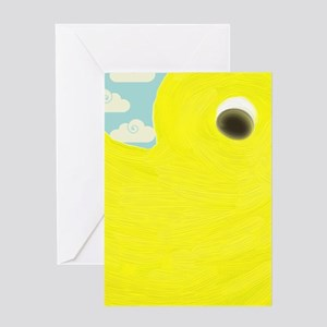 Rubber Duck on Clouds Greeting Cards