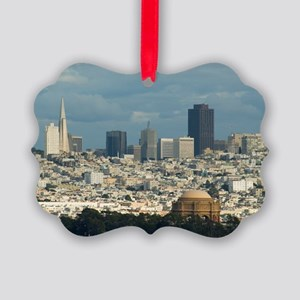 san francisco city skyline Picture Ornament