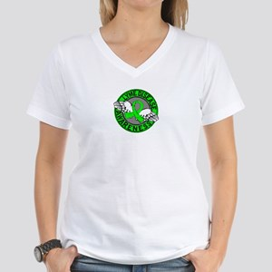 Lyme Disease Awareness 14 Women's V-Neck T-Shirt
