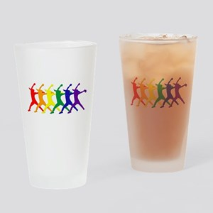 Fastpitch Pitcher Rainbow Bevel Drinking Glass