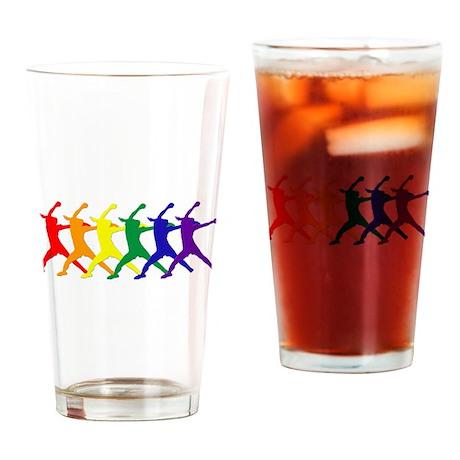 Fastpitch Pitcher Rainbow Bevel Drinking Glass