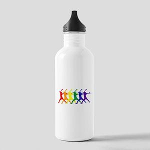 Fastpitch Pitcher Rainbow Bevel Water Bottle