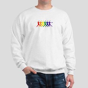 Fastpitch Pitcher Rainbow Bevel Sweatshirt