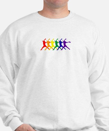 Fastpitch Pitcher Rainbow Bevel Sweatshirt