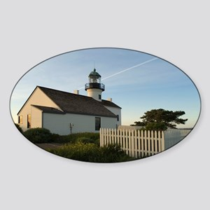 point loma lighthouse Sticker (Oval)